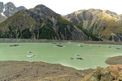 Tasman Lake in New Zealand Stock Photography