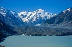Tasman lodowiec na Południowym sland Nowa Zelandia zdjęcie stock