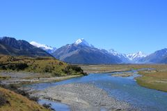 Tasman river, Mt Cook Royalty Free Stock Photos