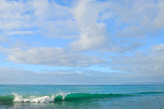 Tasman Sea. Tranquil wave in the Tasman Sea in New Zealand Stock Photos
