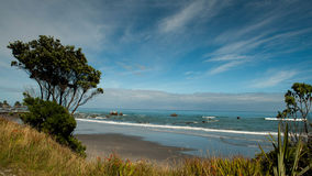 The Tasman Sea rolls in Stock Photos