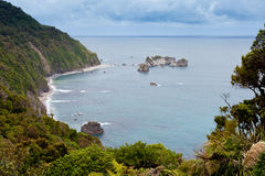 Tasman Sea at West Coast of South Island of NZ Stock Image