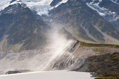 tasman sikter för glaciär Arkivbilder