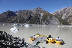 Tasman sjö - Nya Zeeland Royaltyfri Foto