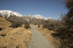 Tasman Track, Mt Cook National Park royalty free stock images