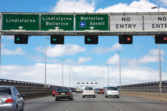 tasman trafik för bro Royaltyfria Bilder