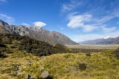 Tasman Valley Stock Photo