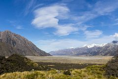 Tasman Valley Royalty Free Stock Photography