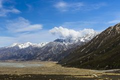 Tasman Valley Royalty Free Stock Photo