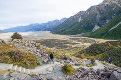 Tasman Valley Walk Track, Aoraki, South Island in New Zealand. Stock Photography