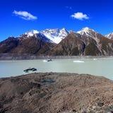 Tasmangletsjer, Nieuw Zeeland Royalty-vrije Stock Foto's