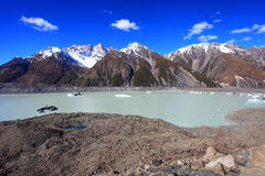 Tasmangletsjer, Nieuw Zeeland Royalty-vrije Stock Afbeeldingen