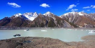 Tasmangletsjer, Nieuw Zeeland Royalty-vrije Stock Fotografie