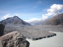 Tasmangletsjer Nieuw Zeeland Stock Foto's