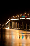 Tasmania bridge at night Stock Photography