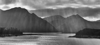 Tasmania Burbery Tele panorama Zdjęcia Stock