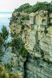 Tasmania close up of cliff face. Tasman Peninsula Tasmania close up of cliff face royalty free stock photography