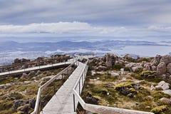 Tasmania Horbart Mt Wellington Lookout Stock Photos