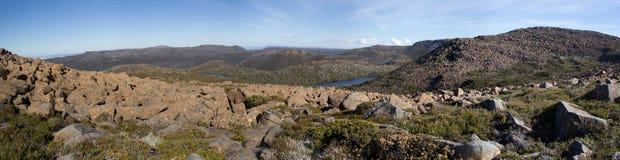 Tasmania Mount Field National Park. Mountains of Mount Field National Park in Tasmania Stock Photography