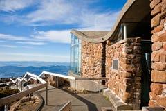 Tasmania mountain. Scenic view from Mount Wellington in Hobart, Tasmania Royalty Free Stock Photos