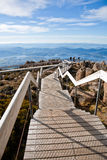 Tasmania mountain. Scenic view from Mount Wellington in Hobart, Tasmania royalty free stock images