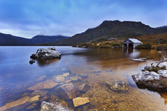 Tasmania Mt Cradle Hut Bottom Set Stock Photos