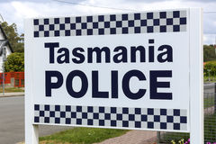 Tasmania Police sign Stock Photo