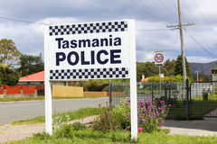 Tasmania Police sign Royalty Free Stock Images