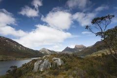 Tasmanian średniogórze krajobraz fotografia stock
