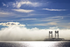 Tasmanian foggy bridge Royalty Free Stock Photos
