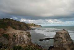 Tasmanian kust, Tasmanien Australien Royaltyfria Foton