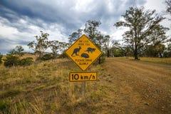 Tasmanian road signs Royalty Free Stock Photos