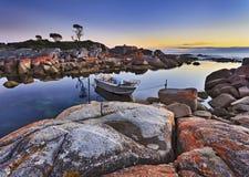 Tasmanien Binalong fiskebåt Arkivbilder