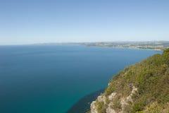 Tasmanien kustutkik Bass Strait Burnie arkivbild