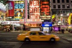 Tassì del Times Square Immagini Stock Libere da Diritti