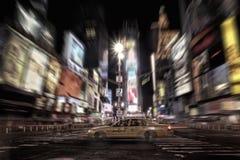 Tassì del Times Square Fotografie Stock