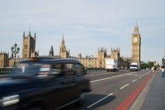 Tassì di Londra e del grande Ben Fotografia Stock Libera da Diritti