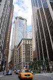Tassì di New York City, carrozza gialla Immagini Stock