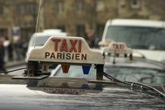 Tassì di Parigi Fotografie Stock Libere da Diritti