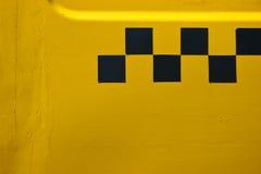 Tassì giallo Fotografia Stock Libera da Diritti