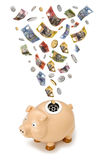 Tassa australiana della Banca Piggy dei soldi Fotografia Stock Libera da Diritti