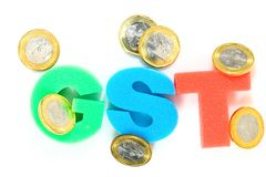 Tassa di GST Fotografia Stock