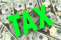 Tassa sul fondo dei soldi Immagini Stock Libere da Diritti