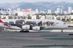 Tassazione degli emirati A380 Airbus Immagini Stock Libere da Diritti