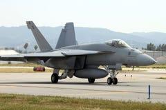 Tassazione dell'aereo da caccia Immagine Stock