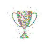Tasse abstraite de trophée Images libres de droits