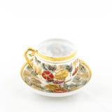 Tasse antique de thé et de café de porcelaine Images libres de droits