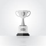 Tasse argentée de gagnant, deuxième endroit Images stock