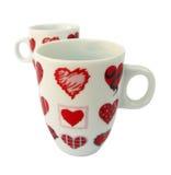 Tasse avec des coeurs de l'amour Images stock