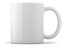 Tasse blanche d'isolement photo libre de droits